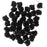 Czech Glass, 2-Hole Ginko Beads 7.5mm, 10 Grams, Jet Black