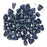 Czech Glass Matubo, Triangular 2-Hole Nib-Bit Beads 5.5x6mm, 10 Grams, Cobalt - Picasso