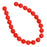 Czech Glass Pastella Collection, Smooth Round Druk Beads 8mm, 1 Strand, Red Fatale