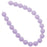 Czech Glass Pastella Collection, Smooth Round Druk Beads 8mm, 1 Strand, Purple