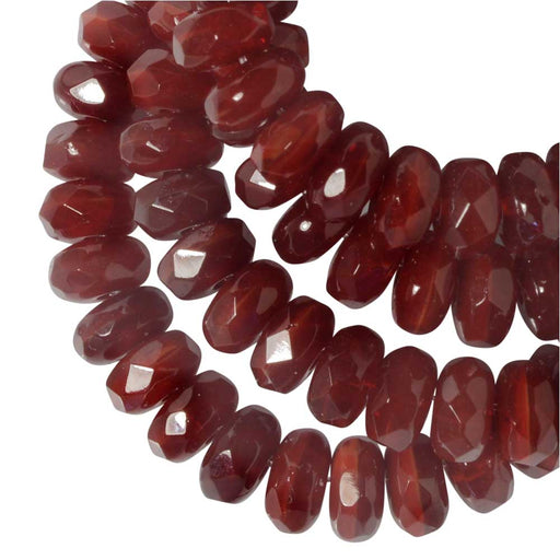 Czech Glass Beads, Faceted Rondelle 3mm, Red Opaline, 1 Strand, by Raven's Journey