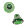 Czech Glass Beads 9mm Bell Beadcaps Emerald Green (10)