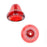 Czech Glass Beads 9mm Bell Beadcaps Red Ruby (10)