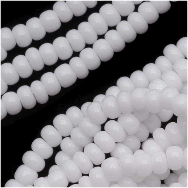Czech Seed Beads 11/0 Snow White Opaque (1 Hank)