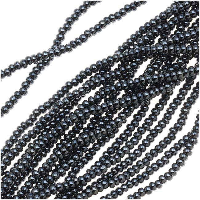 Czech Seed Beads 11/0 Hematite Grey Metallic (1 Hank)
