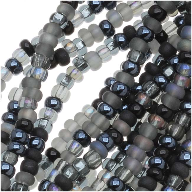Czech Seed Beads 11/0 Mix Lot Witches Brew Black Iris
