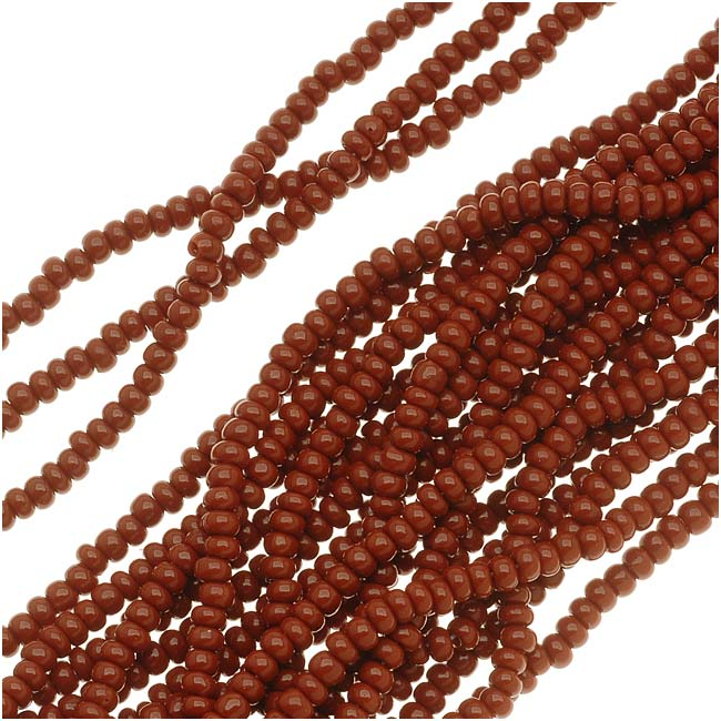Czech Seed Beads 11/0 Warm Brown Opaque (1 Hank)