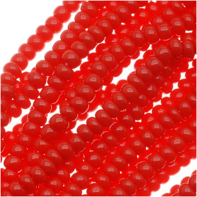 Czech Seed Beads Size 11/0 True Red Opaque (1 Hank)