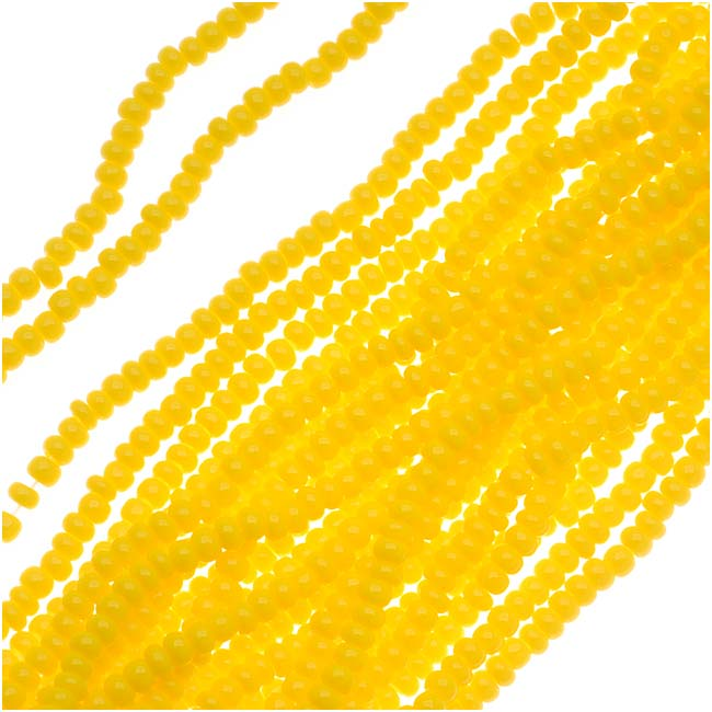Czech Seed Beads 11/0 Sunshine Yellow Opaque