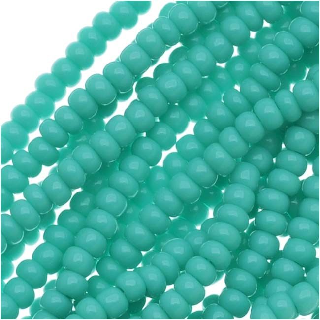 1 hank classy turquoise color NEW!! 110 Blue Turquoise Czech seed beads 1220
