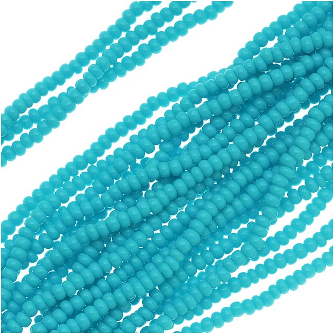 Czech Seed Beads 11/0 Blue Turquoise Opaque (1 Hank)