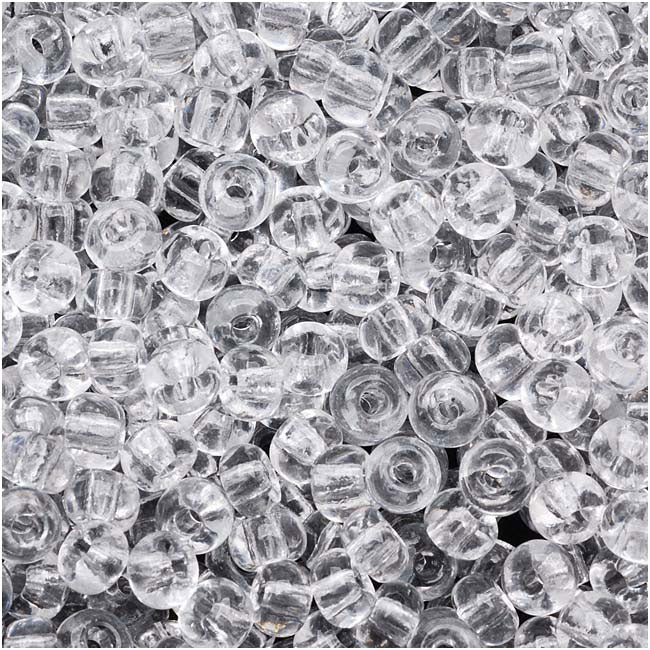 Czech Seed Beads 6/0 Crystal Clear (1 Ounce)