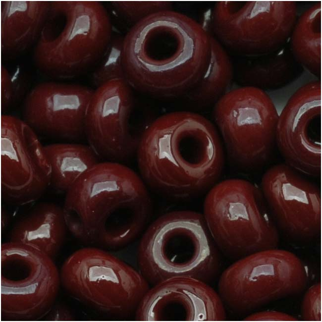 Czech Seed Beads 6/0 Dark Brown Opaque (1 Ounce)