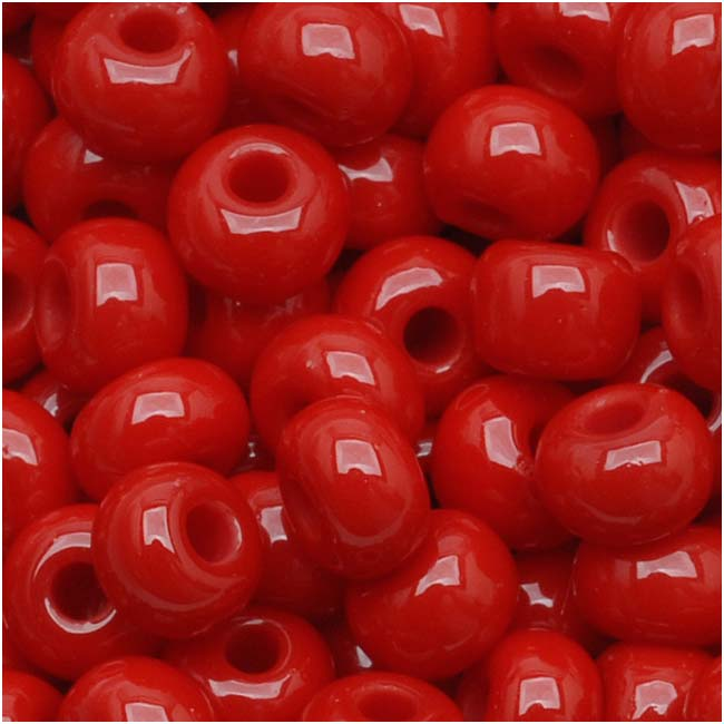 Czech Seed Beads 6/0 True Red Opaque (1 Ounce)