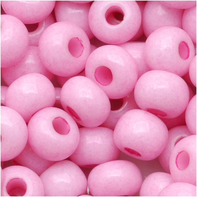 Czech Seed Beads 6/0 Lilac Pink Opaque (1 Ounce)