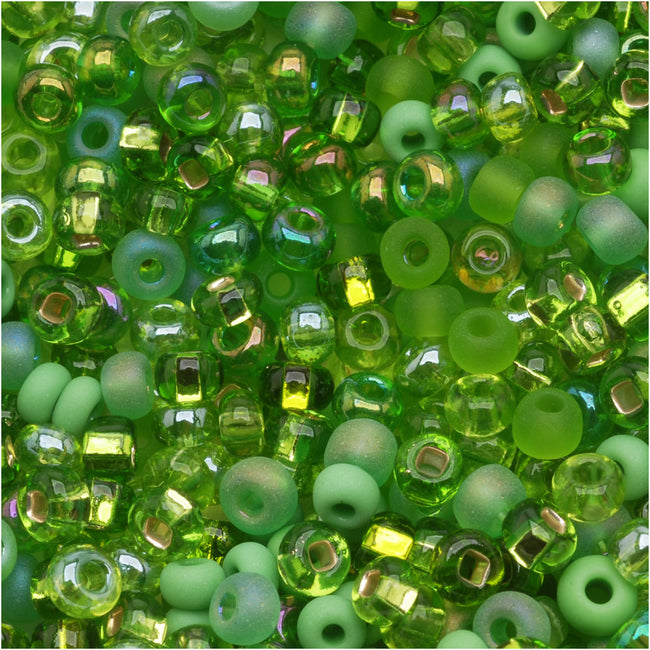 Czech Seed Beads 6/0 'Lime Green' Peridot Mix (1 OUNCE)