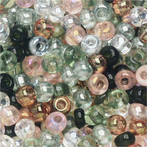 Czech Glass Seed Beads, 6/0 Round, 1 Ounce, Tourmaline Tapestries Mix