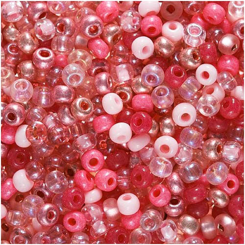 "Czech Seed Beads 8/0 ""Pretty Princess Pink"" Opaque (1 Ounce)"