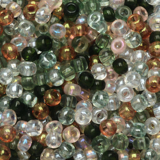 Czech Glass Seed Beads, 8/0 Round, 1 Ounce, Tourmaline Tapestries Mix