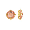 Preciosa Rose Montee Beads, Czech Rhinestones SS16, 24 Pc, Crystal Apricot on Gold Plating