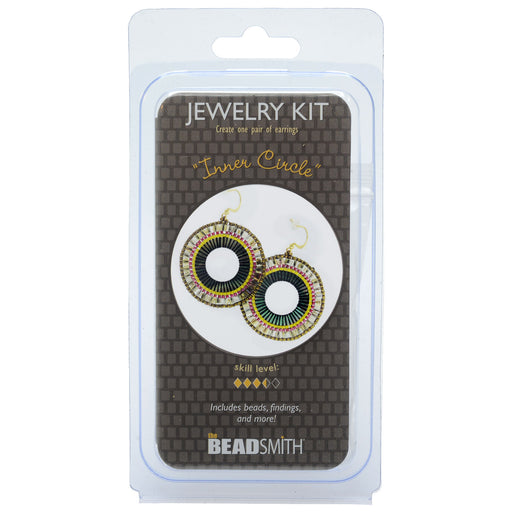 The Beadsmith Jewelry Kit, Inner Circle Earrings, 1 Kit