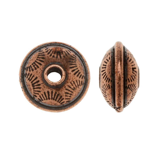 TierraCast Pewter, Western Bead 11mm, 2 Pieces, Antiqued Copper Plated