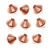 Bright Genuine Copper Bicone Beads 4.8mm (50)
