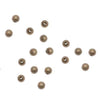 Antiqued Brass Tiny 2mm Round Seamed Beads (100)