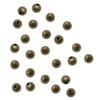 Antiqued Brass Small 3mm Round Seamed Beads (50)