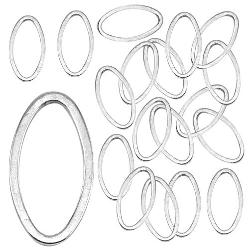 Beadalon Silver Plated Quick Links 8mm X 15mm Round (32