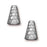 TierraCast Rhodium Plated Pewter Hammertone Tall Cone Strand Reducer Beads 12.8mm (2)