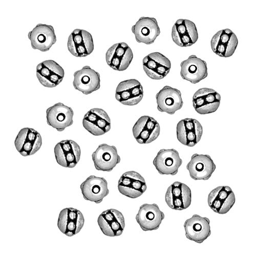 TierraCast Antiqued Silver Plated Pewter Beaded Spacer Beads 3x3mm (50)