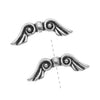TierraCast Fine Silver Plated Pewter Angel Wing Beads 21mm (2)