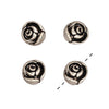 TierraCast Fine Silver Plated Pewter 3-D Rose Beads 7.5mm (4)
