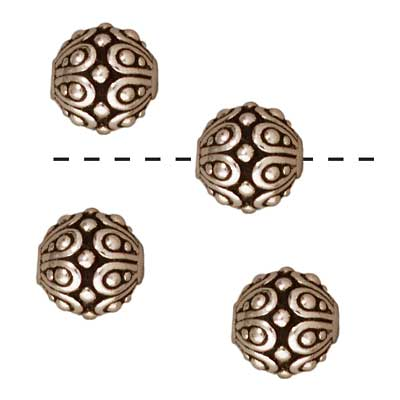 TierraCast Fine Silver Plated Pewter Round Casbah Beads 7mm (4)