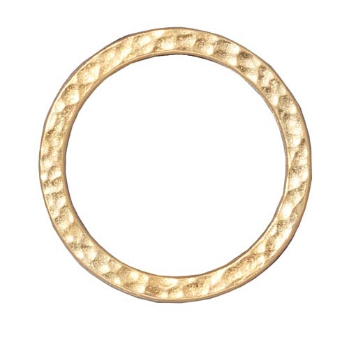 TierraCast Real 22K Gold Plated Pewter Round 25mm Connector Link Ring (2)