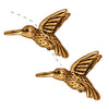 TierraCast 22K Gold Plated Pewter Hummingbird Beads 13mm (2)