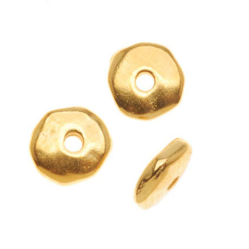 TierraCast 22K Gold Plated Pewter Nugget Heishe Spacer Beads 6mm (10)