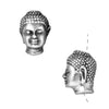 TierraCast Fine Silver Plated Pewter Buddha Head Beads 13.5mm (2)