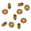 TierraCast Fine Gold Plated Pewter Twisted Spacer Beads 6mm (10)