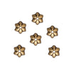 TierraCast Antiqued Gold Plated Pewter Talavera Star Bead Caps 5mm (x 6)
