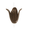 Vintaj Natural Brass 18mm Magnolia Leaf Bead Cap (1)