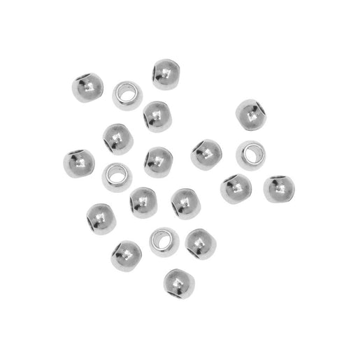 Stainless Steel Beads, Round 3mm, 20 Pieces