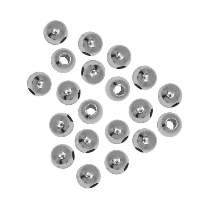 Stainless Steel Beads, Round 4mm, 20 Pieces