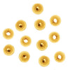 22K Gold Plated 2.5mm Round Metal Beads (100)