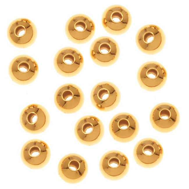 22K Gold Plated Round Beads 3mm (1000)