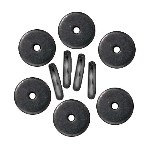 TierraCast Black Finish Lead-Free Pewter Disk Heishi Spacer Beads 8mm (10)