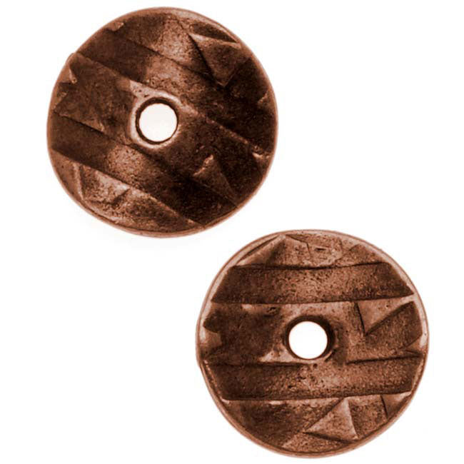 TierraCast Antiqued Copper Plated Curved Spacer Disc Bead 10mm (10)