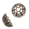 Antiqued Brass Large Ornate Filigree Bead Caps 11mm (20)