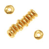 TierraCast 22K Gold Plated Pewter Nugget Heishe Spacer Beads 7mm (12)